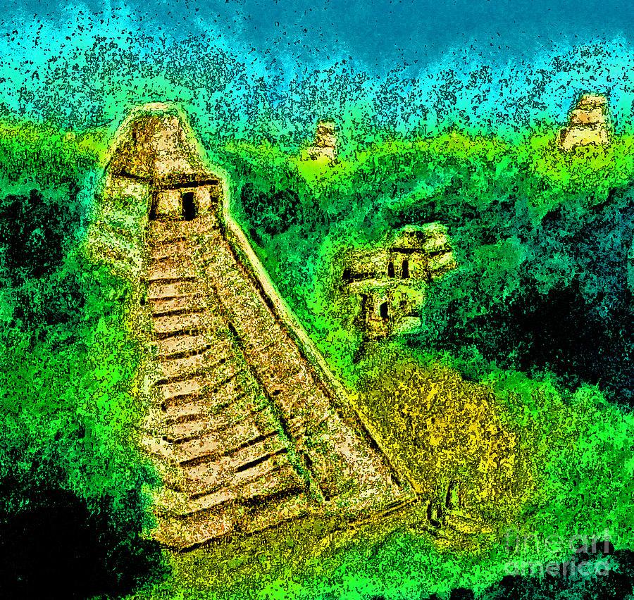 Jrr Drawing - Tikal By Jrr by First Star Art