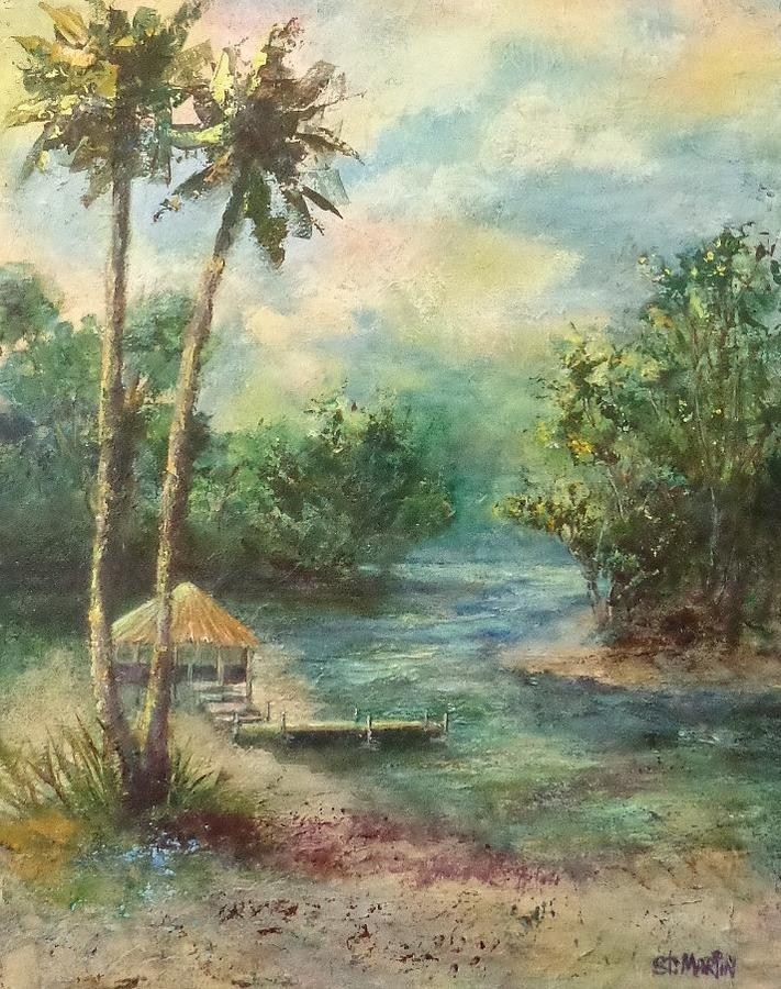 River Painting - Tiki Time by Annie St Martin