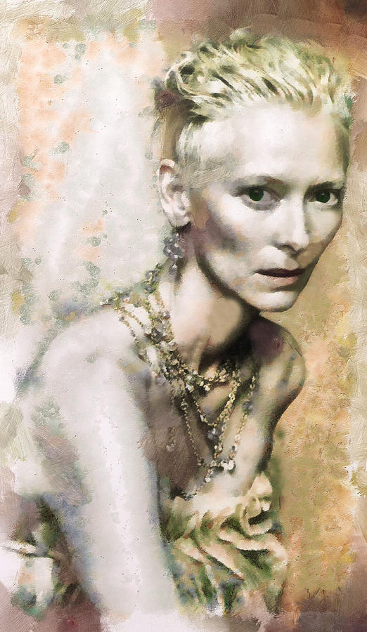 Actress Painting - Tilda Swinton  by Janice MacLellan