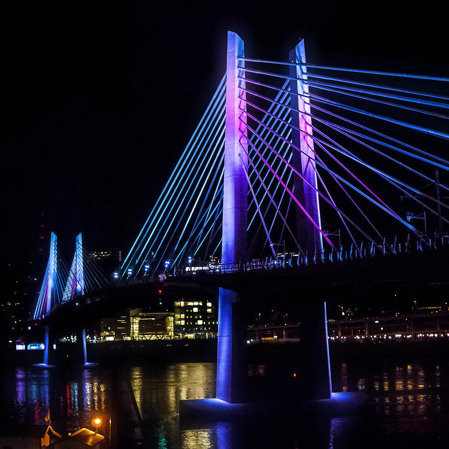 Blue Photograph - Tilikum Crossing On December 6 by John Magnet Bell