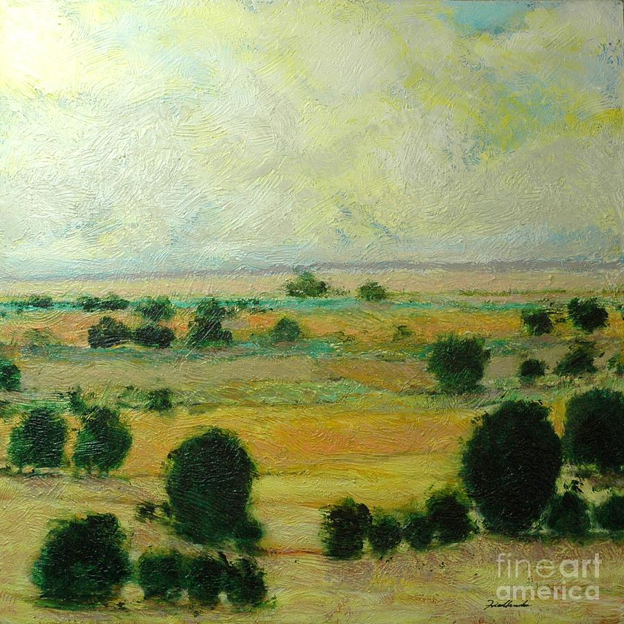 Landscape Painting - Till The Clouds Rolls By by Allan P Friedlander