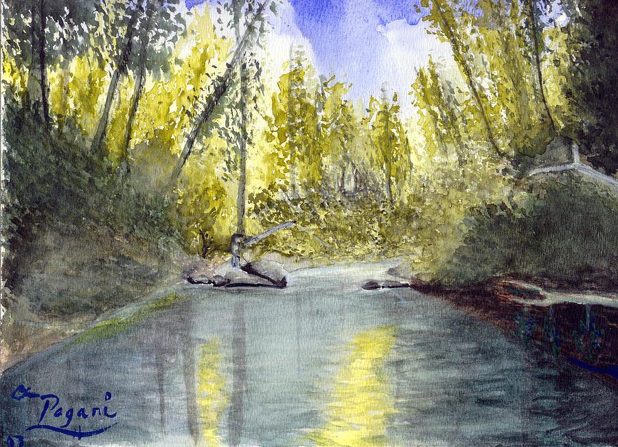 Wilson River Painting - Tillamook Fishing by Chriss Pagani