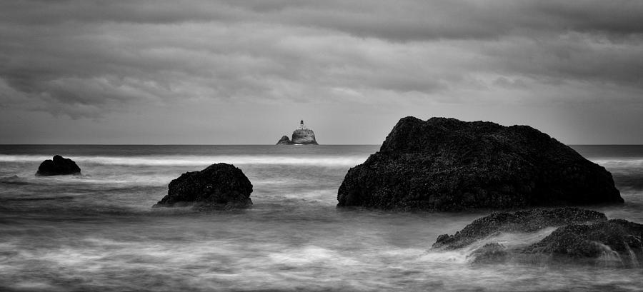 Ecola State Park Photograph - Tillamook Rock Lighthouse by Brian Bonham