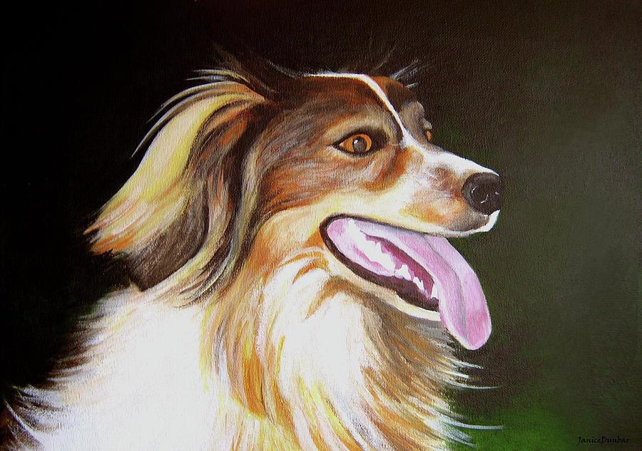 Dog Painting - Tillie by Janice Dunbar