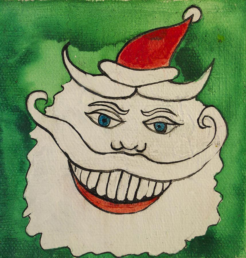 Santa Painting - Tillie The Mischievous Santa by Patricia Arroyo