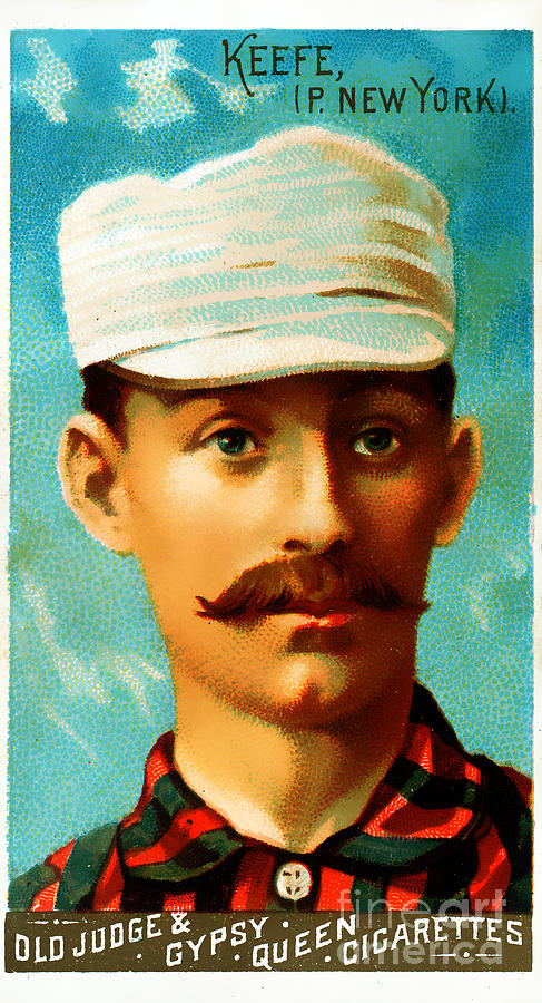 Baseball Card Photograph - Tim Keefe New York Metropolitans Baseball Card 0128 by Wingsdomain Art and Photography