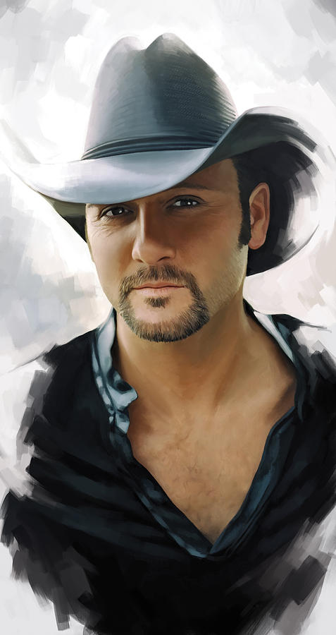 Country Music Painting - Tim Mcgraw Artwork by Sheraz A