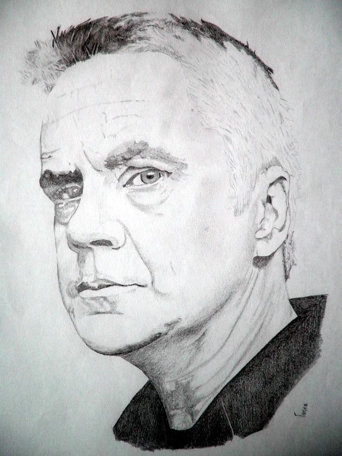 Tim Robbins Drawing - Tim Robbins by Robert Lance