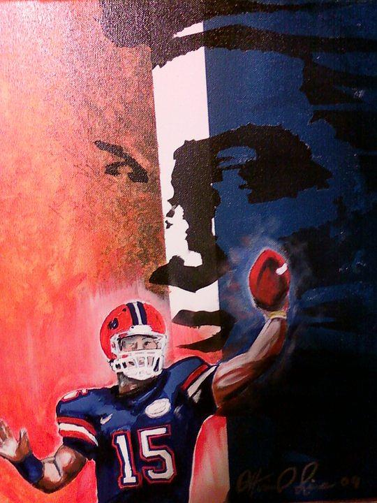 Tim Painting - Tim Tebow by Ottoniel Lima