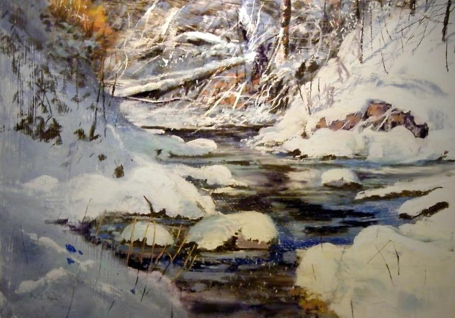 Timber Creek Winter Painting by Joseph Barani