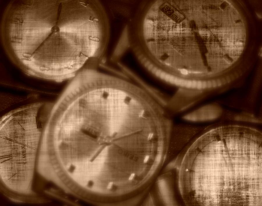 Sepia Photograph - Time After Time by Barbara S Nickerson