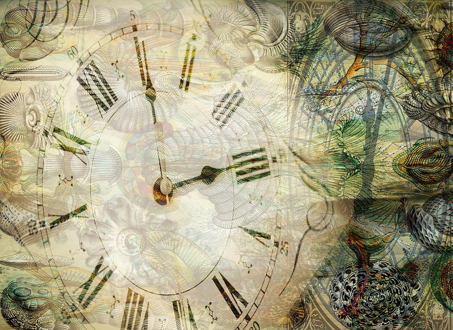 Clock Face Digital Art - Time After Time by Sarah Vernon