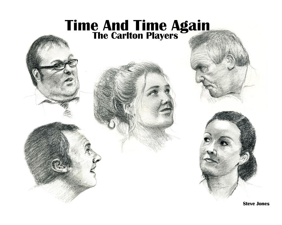 Pencil Drawing Drawing - Time And Time Again by Steve Jones