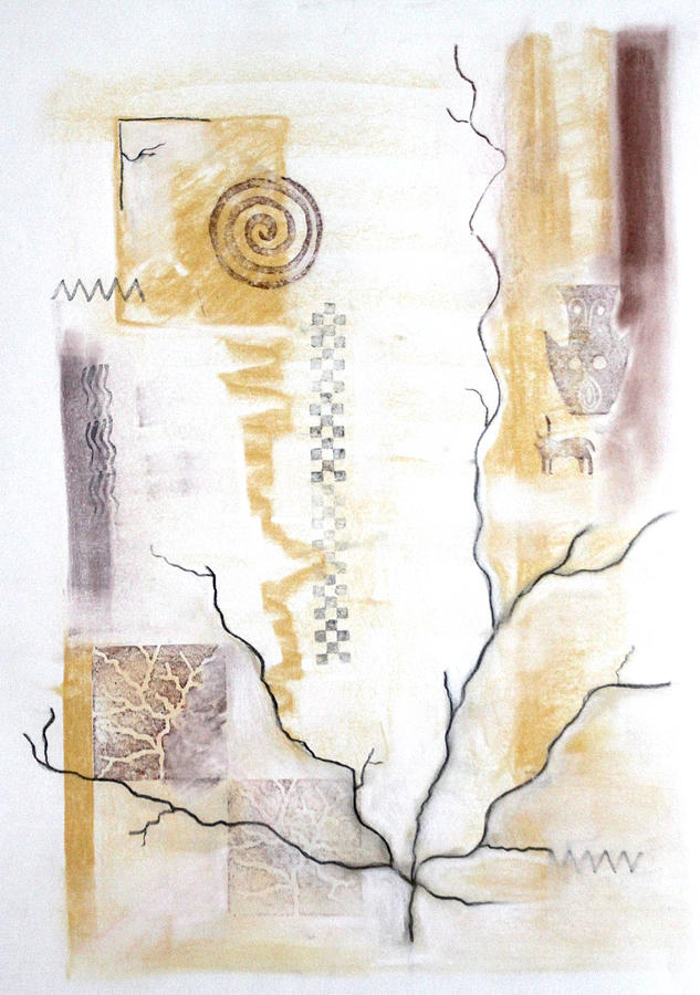Branching Painting - Time Branching by Diana Perfect