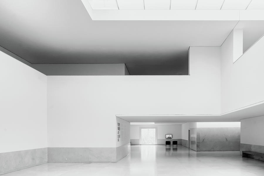 Architecture Photograph - Time Coloured Space by Luc Vangindertael (lagrange)