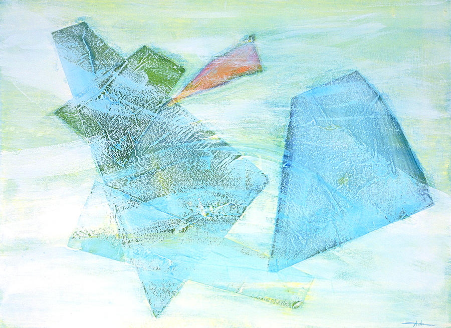 Abstract Painting Painting - Time Flying By  by Asha Carolyn Young