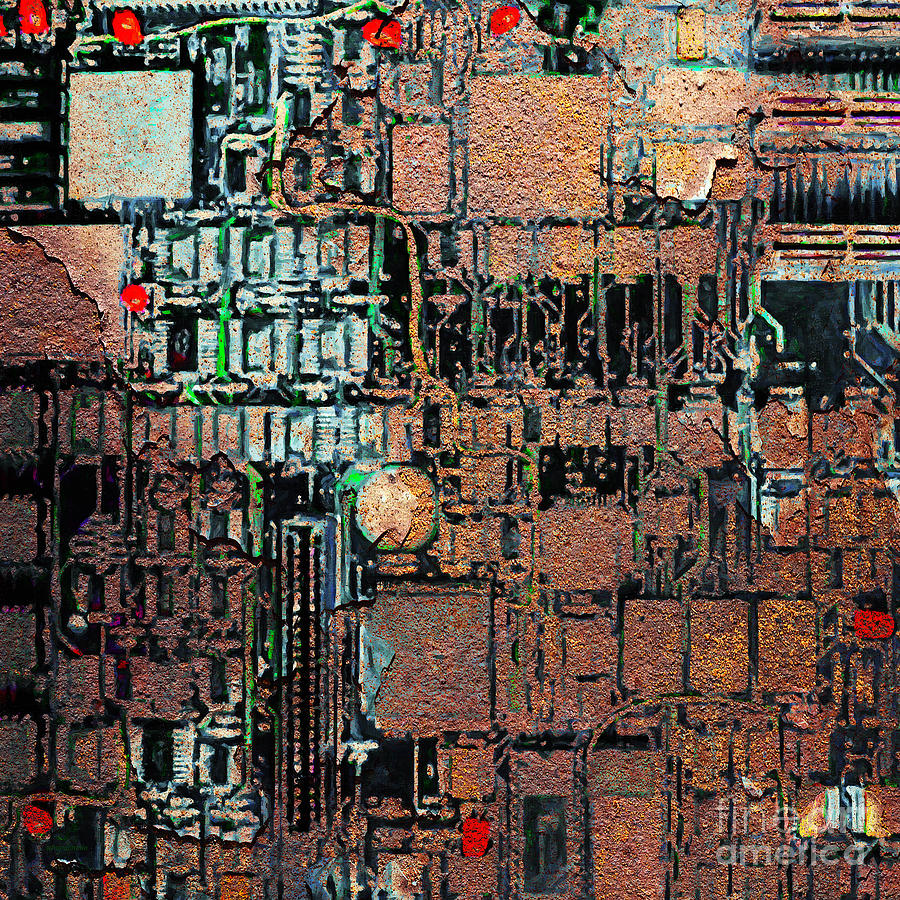 Punk Photograph - Time For A Motherboard Upgrade 20130716 Square by Wingsdomain Art and Photography