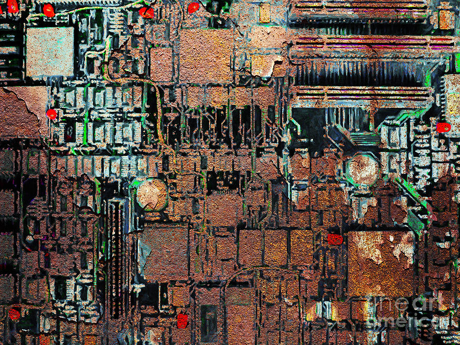 Punk Photograph - Time For A Motherboard Upgrade 20130716 by Wingsdomain Art and Photography