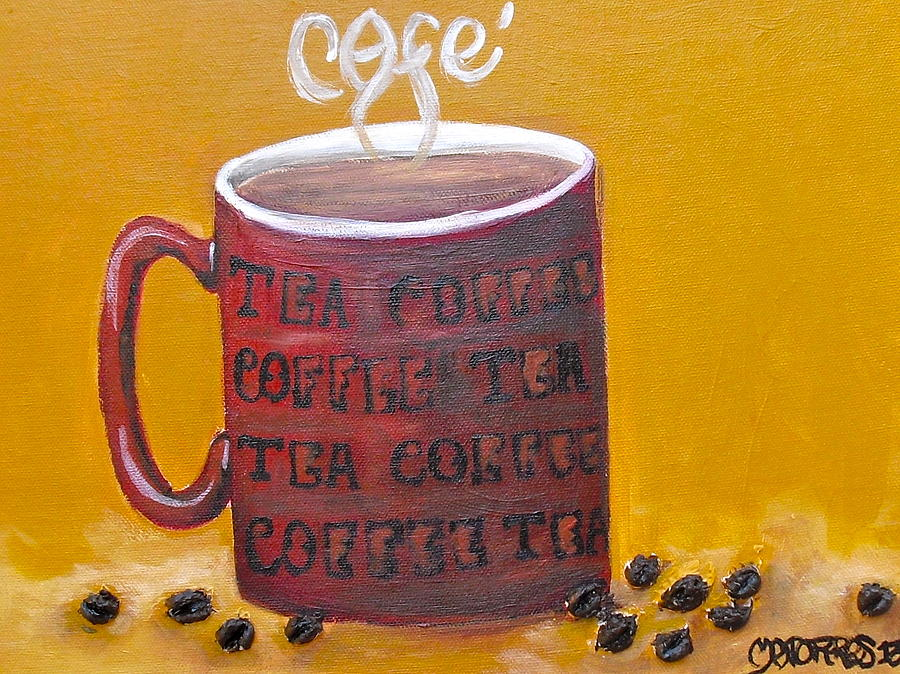 Coffee Painting - Time For Coffee by Melissa Torres