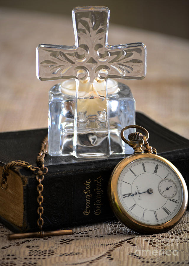 Cross Photograph - Time For God by Deb Halloran