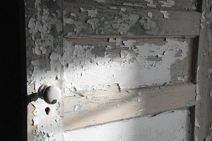 Old Door Photograph - time II by Leon Hollins III