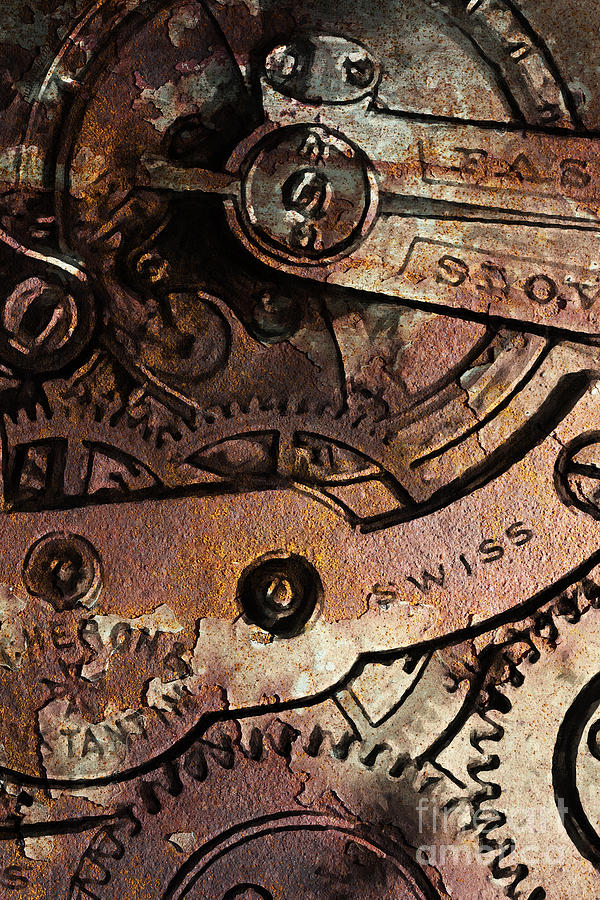 Steampunk Photograph - Time In Abstract 20130605rust by Wingsdomain Art and Photography