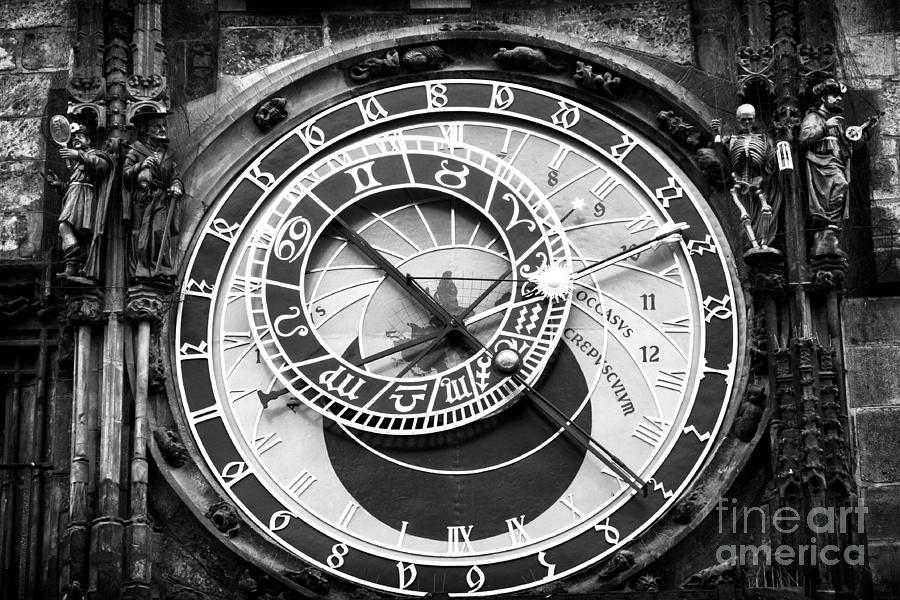 Time In Prague Photograph - Time In Prague by John Rizzuto
