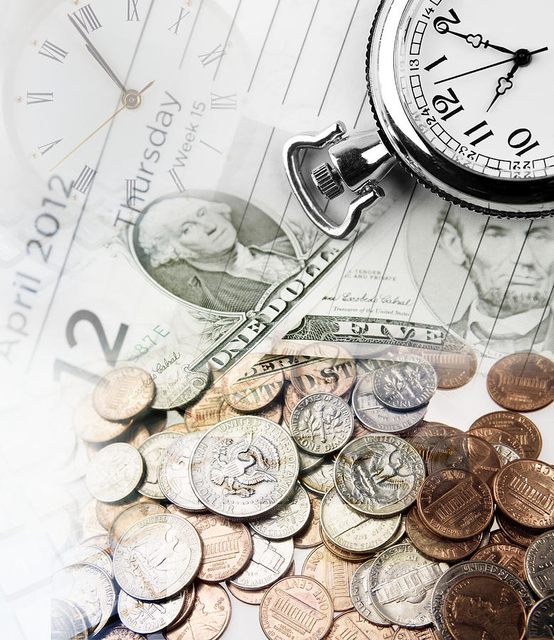 Banking Photograph - Time Is Money Concept by Les Cunliffe