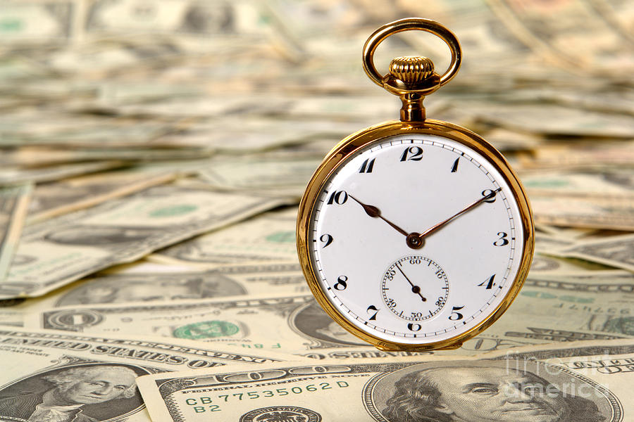 Cash Photograph - Time Is Over Money by Olivier Le Queinec
