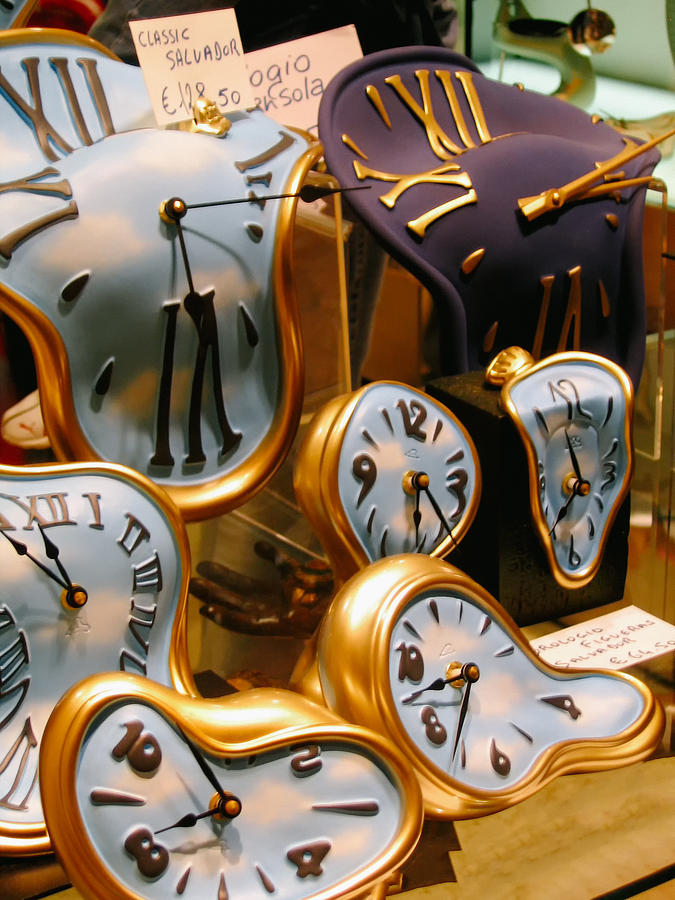 Clock Photograph - Time Melting Away.. by A Rey