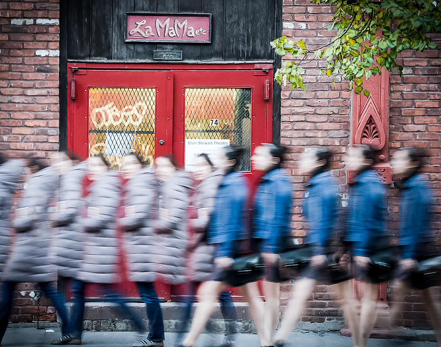 Street Photography Photograph - Time Slice In Motion by Steve Stanger