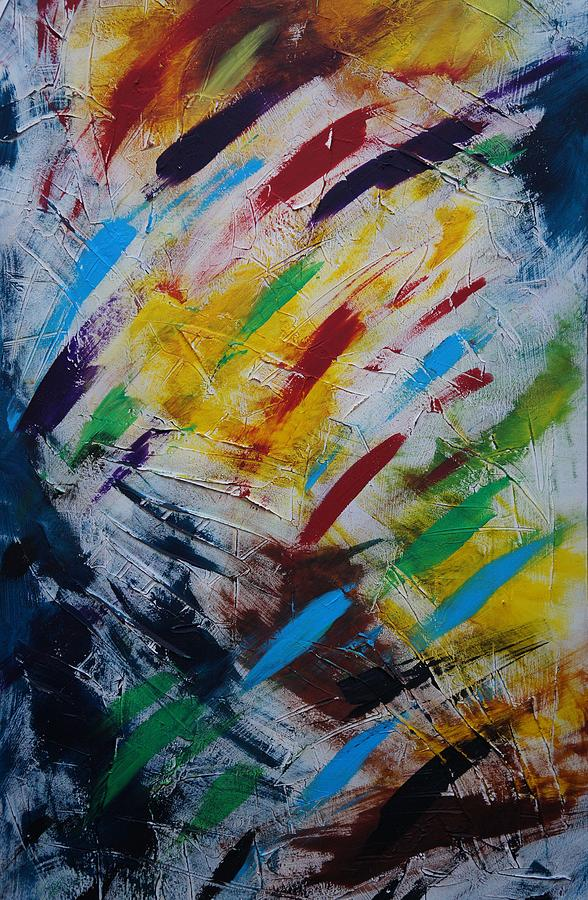 Abstract Painting - Time stands still by Sergey Bezhinets