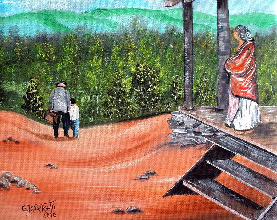 Grandma Painting - Time To Go by Gloria E Barreto-Rodriguez