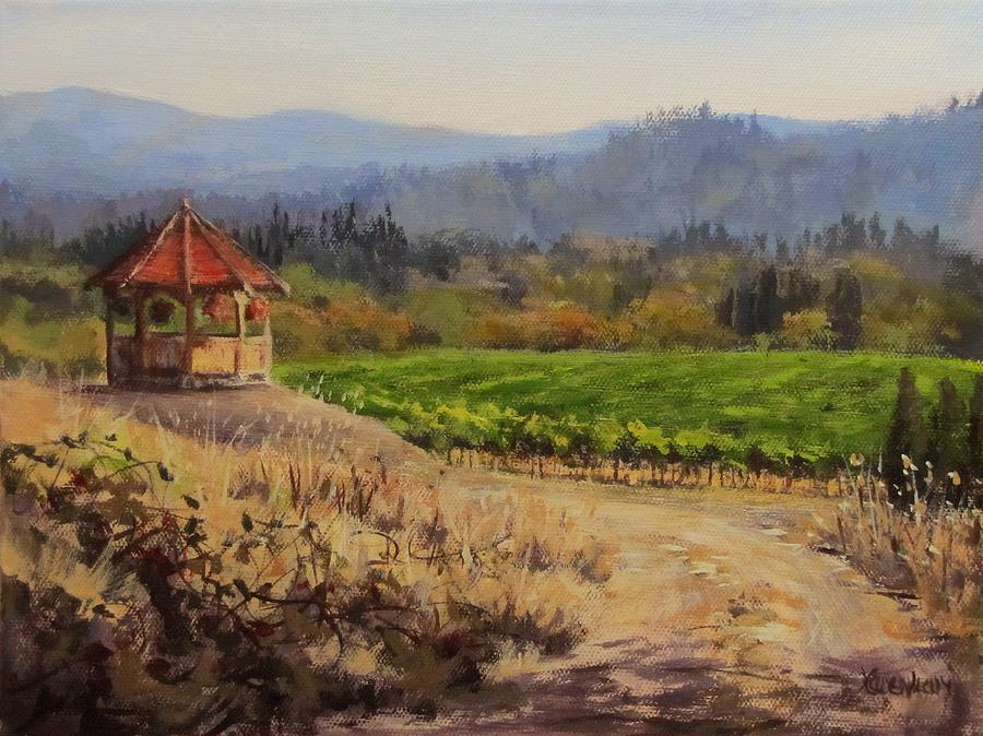 Vineyard Painting - Time To Harvest by Karen Ilari