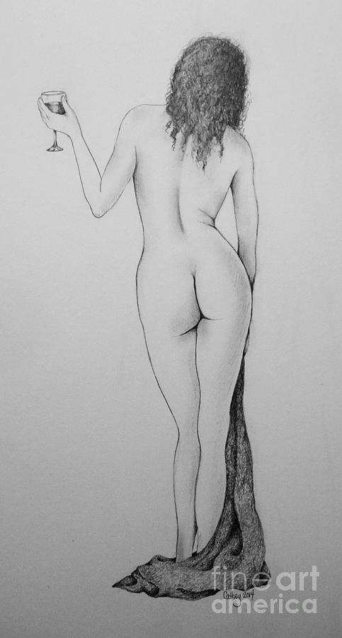 Nude Drawing - Time To Relax by Catherine Howley