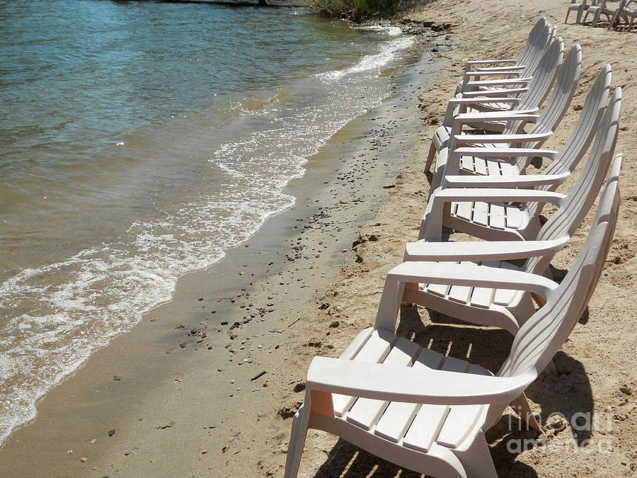 Adirondak Chairs Photograph - Time To Relax by Margaret McDermott