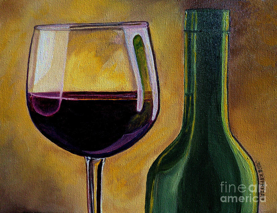 Wine Painting - Time To Unwind by Julie Brugh Riffey