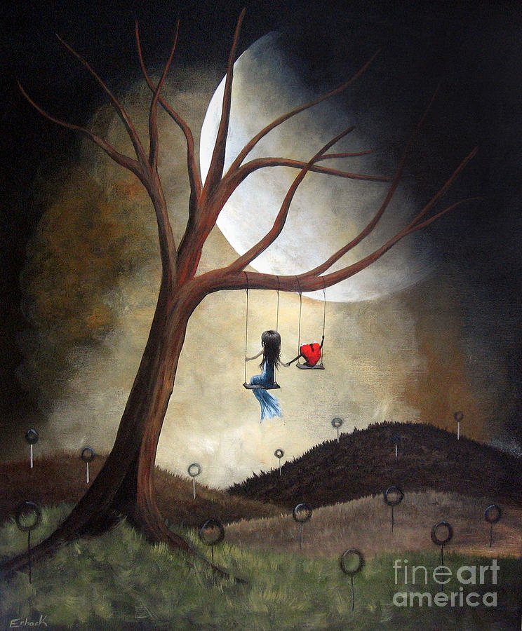 Surreal Painting - Time Together By Shawna Erback by Shawna Erback