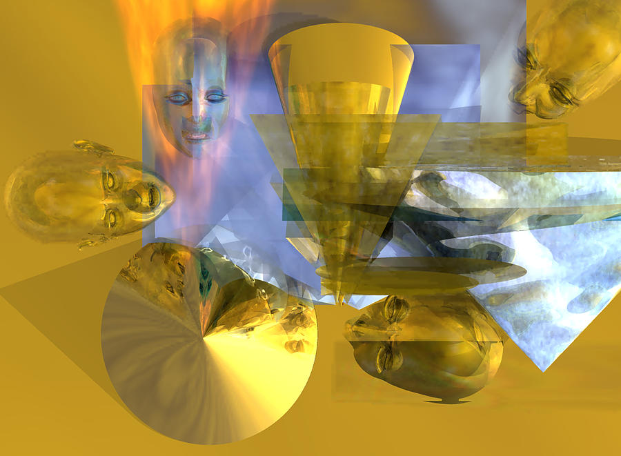 Oil Well Fire Digital Art - Time Travel #53_p by Stephen Donoho