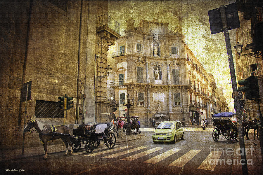 Palermo Photograph - Time Traveling In Palermo - Sicily by Madeline Ellis