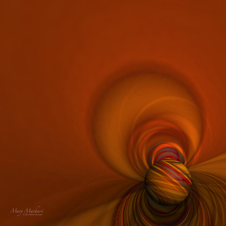 Abstract Digital Art - Time Warp by Mary Machare
