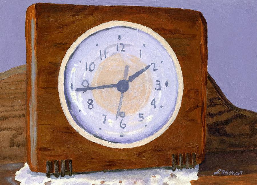 Vintage Painting - Time Will Tell by Lynne Reichhart