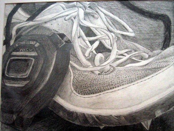 Timed Run Drawing by Lauren  Pecor