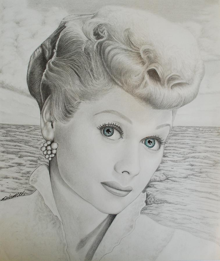 Lucille Ball Drawing - Timeless Beauty 2 by Brent  Mileham