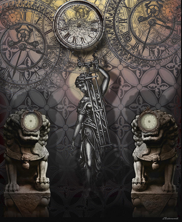 Surrealism Digital Art - Timepiece by Larry Butterworth