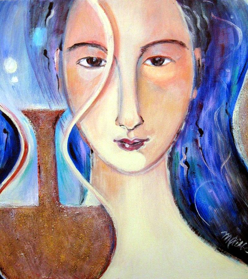 Hourglass Painting - Timepiece by Marlene LAbbe