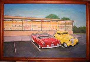 Diner Painting - Times Past Diner by Rick Huotari