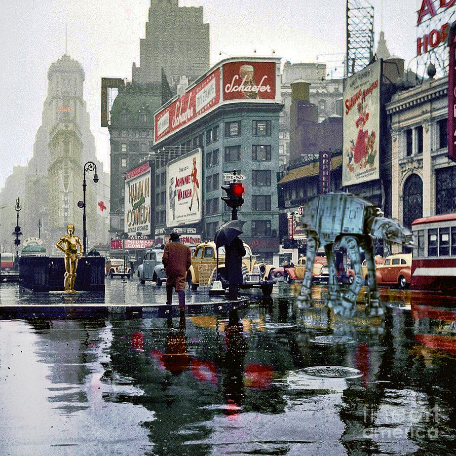 Times Square 1943 reloaded Photograph by HELGE Art Gallery