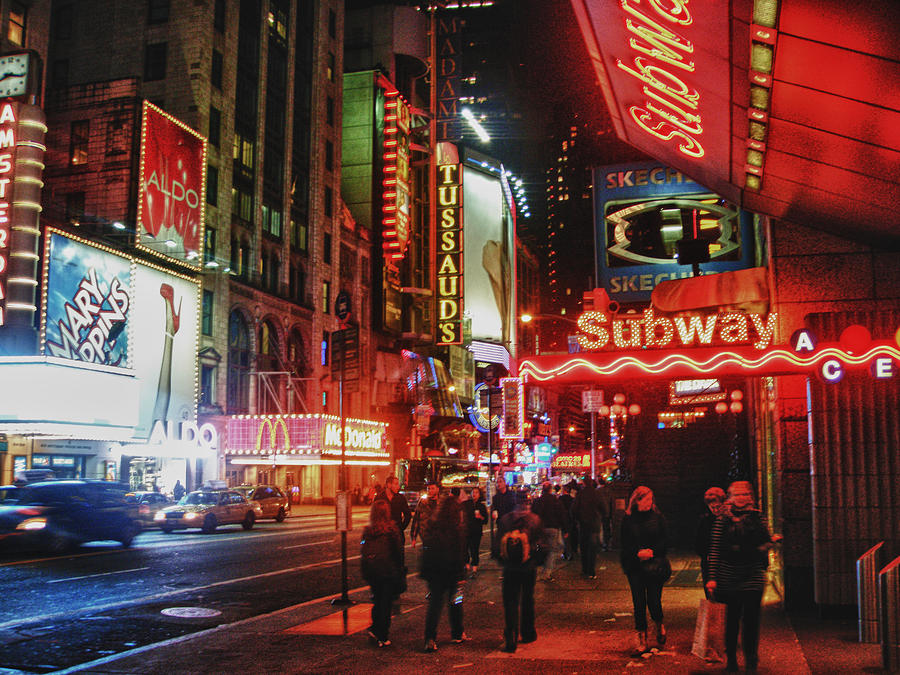 Nyc Photograph - Times Square  by Anthony  Myers