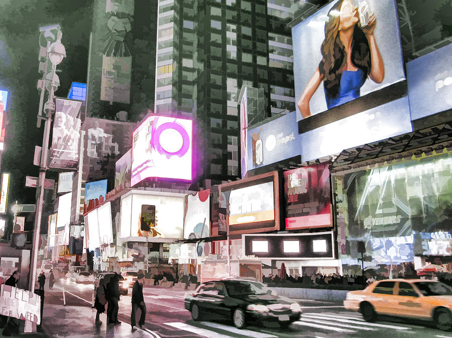 American Photograph - Times Square at Night by Boss Photographic